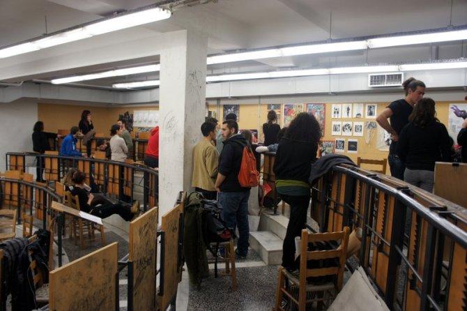 Άποψη του χώρου κατά την διάρκεια των εξετάσεων